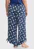 Plus Size Polka Dot Tie Side Sleep Pants alternate view