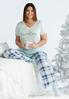 Plus Size Charming Plaid Sleep Pant alternate view