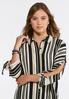 Neutral Stripe Boyfriend Shirt alternate view