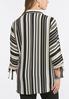 Plus Size Neutral Stripe Boyfriend Shirt alternate view