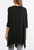 Plus Size Solid Draped Cardigan Top alternate view