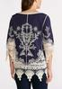 Embroidered Lace Trim Tunic alternate view