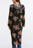 Plus Size Floral Lace Hooded Duster alternate view