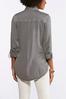 Plus Size Gray Soft Button Down Shirt alternate view