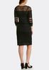 Plus Size Black Illusion Midi Dress alternate view