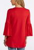 Plus Size Solid Bell Sleeve Top alternate view