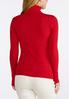 Plus Size Red Ribbed Turtleneck alternate view