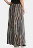 Plus Size Puff Print Mermaid Maxi Skirt alternate view