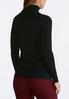 Plus Size Black Lurex Turtleneck Sweater alternate view