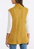 Plus Size Gold Chenille Sweater Vest alternate view