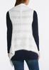Plus Size Fuzzy Draped Sweater Vest alternate view