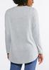 Plus Size I Love Paris Lace Trim Top alternate view