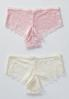 Pink Lace And Ivory Bra Set alternate view