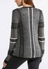Plus Size Shaded Gray Cardigan Sweater alternate view
