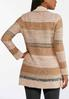 Plus Size Boucle Striped Cardigan Sweater alternate view