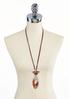 Lucite And Wood Cord Pendant Necklace alternate view