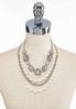 Multi Layer Rhinestone Pearl Necklace alternate view