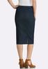Plus Size Stretch Denim Woven Skirt alternate view