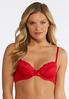 Plus Size Rich Red And Black Bra Set alternate view