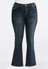Plus Petite Wing Pocket Bootcut Jeans alternate view