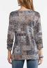 Plus Size Embellished Mixed Paisley Top alternate view