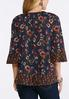 Plus Size Floral Off The Shoulder Top alternate view