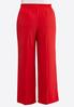 Plus Size Wide Leg Tie Front Red Pants alternate view