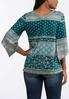 Plus Size Teal Angle Sleeve Top alternate view