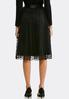 Plus Size Dotted Tulle Party Skirt alternate view