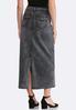 Black Wash Denim Maxi Skirt alternate view