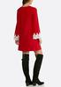 Plus Size Crochet Trim Swing Dress alternate view