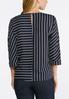 Plus Size Navy Stripe Pullover Top alternate view
