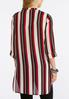 Plus Size Striped High- Low Top alternate view