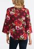 Plus Size Floral Bell Sleeve Top alternate view
