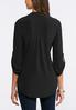 Plus Size Soft Stretch Solid Popover Top alternate view