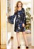 Blue Lace Sleeve Swing Dress alternate view