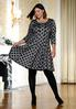 Plus Size Polka Dot Fit And Flare Dress alternate view