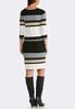 Plus Size Multi Stripe Midi Dress alternate view