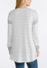 Plus Size Gray Striped Cardigan Sweater alternate view