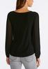 Solid Pleated Sleeve Top alternate view