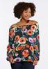 Plus Size Lace Floral Poet Top alternate view