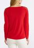 Plus Size Vented V- Neck Top alternate view
