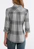 Plus Size Lurex Plaid Shirt alternate view