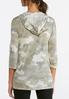 Plus Size Camo Lace Up Hoodie alternate view