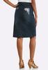 Embellished Pocket Denim Skirt alternate view