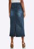 Plus Size Dark Denim Midi Skirt alternate view