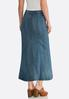 Seamed Denim Maxi Skirt alternate view