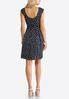 Navy Polka Dot Fit And Flare Dress alternate view