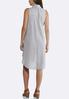 Gray And White Striped Shirt Dress alternate view