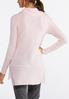 Plus Size Pink Cowl Neck Tunic alternate view